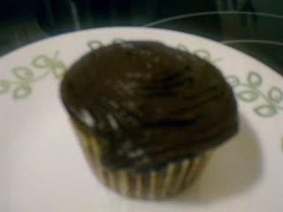 cupcake de chispas de chocolate