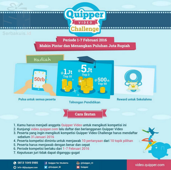 Quipper video challenge berhadiah puluhan juta rupiah quipper video challenge stopboris Image collections