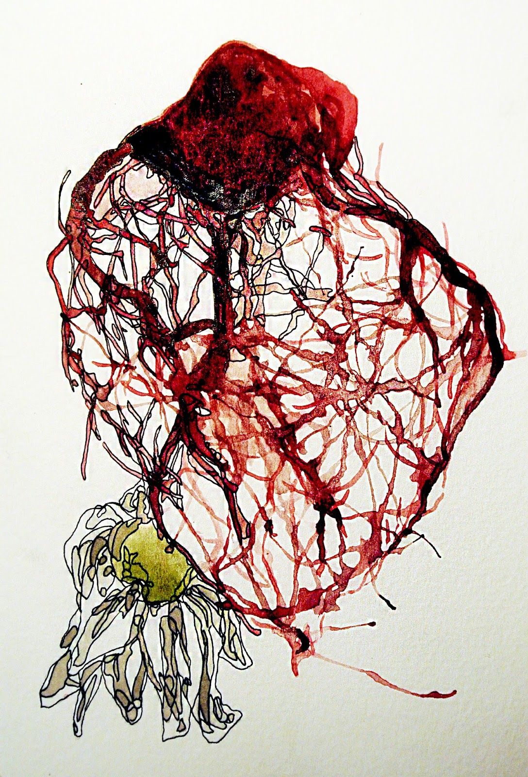 This Is All Art Veins Of The Human Heart Watercolour