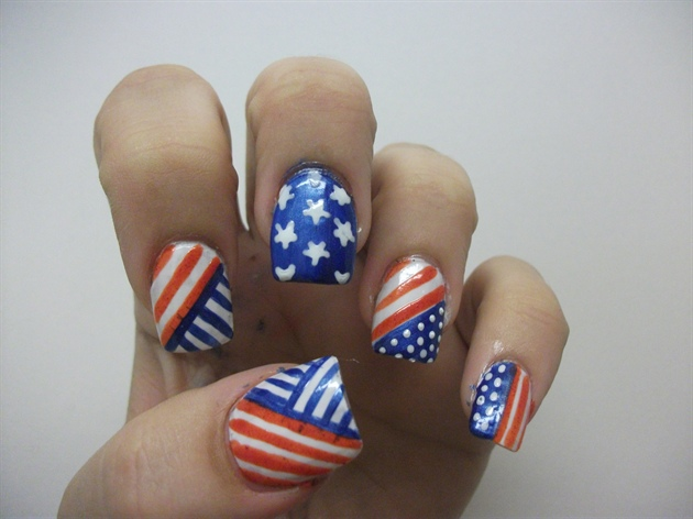 4th of july nail art design ideas let 39 s celebrate for 4th of july nail art decoration flag
