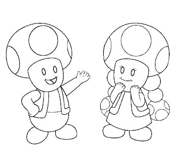 #2 Toad Coloring Page