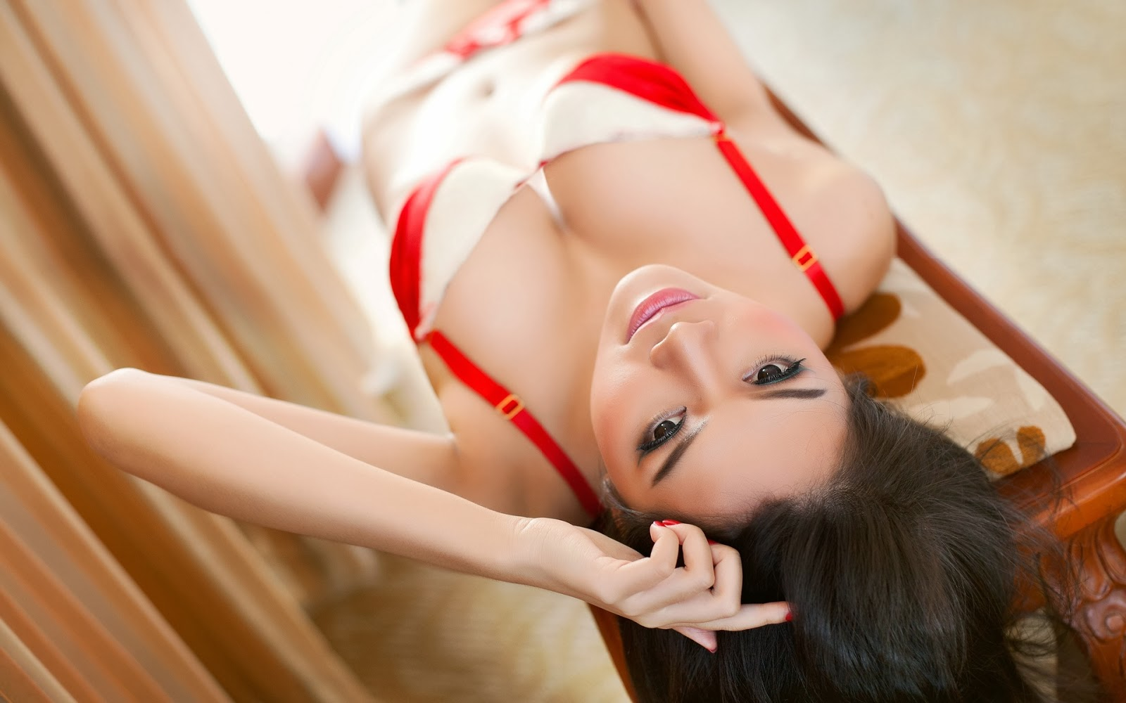 Asian Beauty Woman Sexy Lingerie