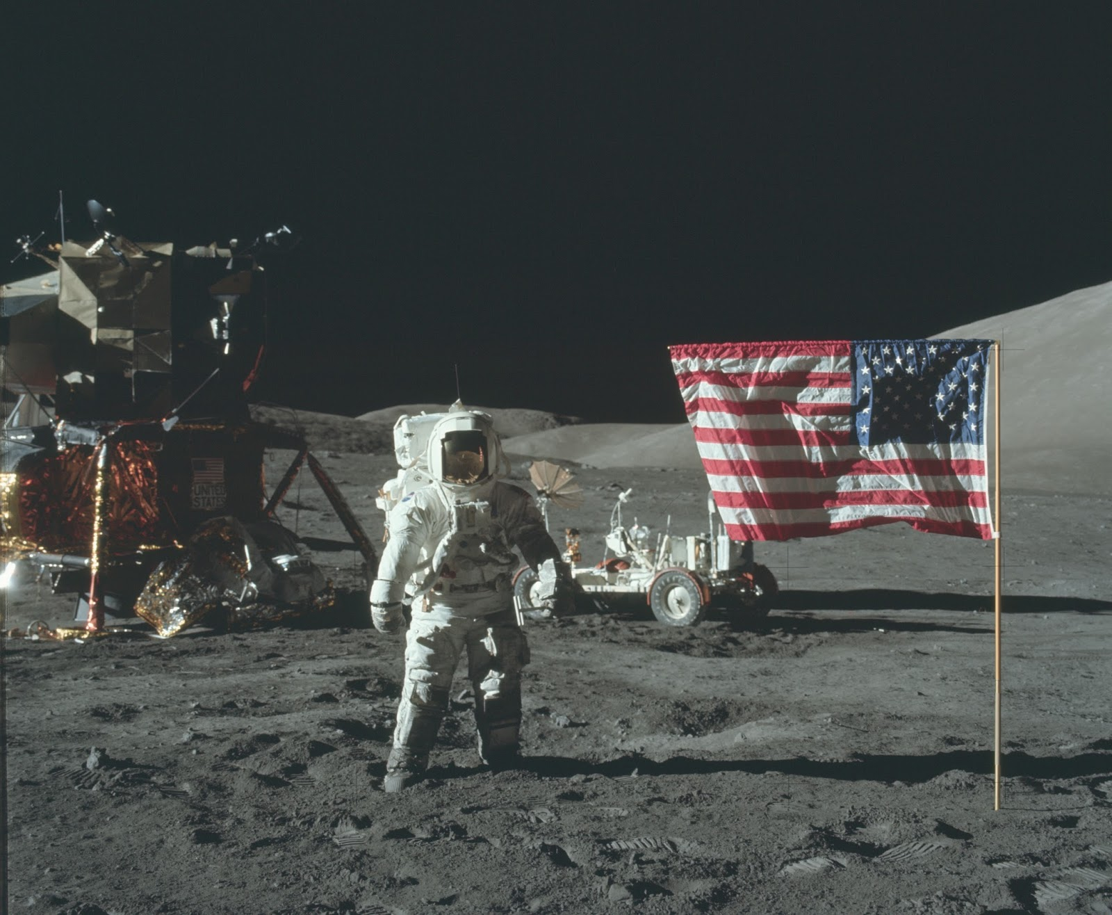 Image from Apollo !7 moon