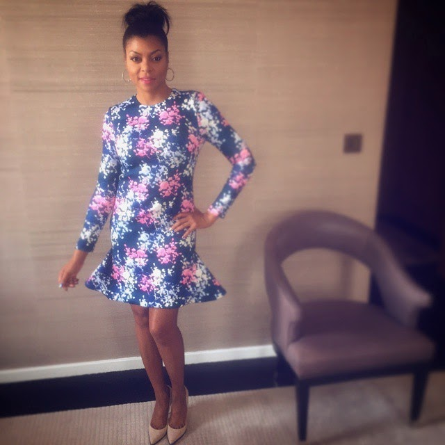 Taraj P. Henson in floral flare dress