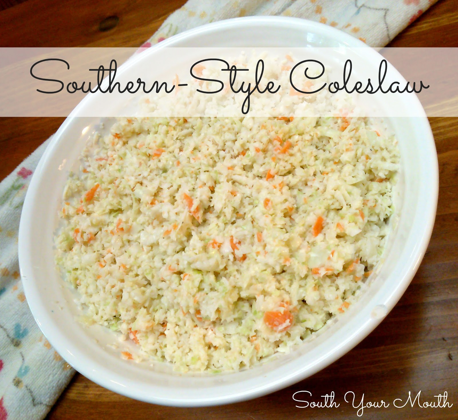 South your mouth southern christmas dinner recipes southern style coleslaw forumfinder Images