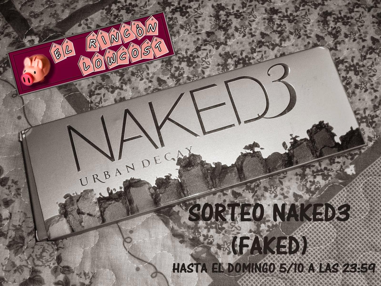 Sorteo paleta Naked3 (faked)