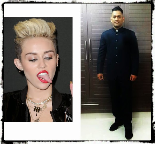647. Dhoni copies Miley Cyrus