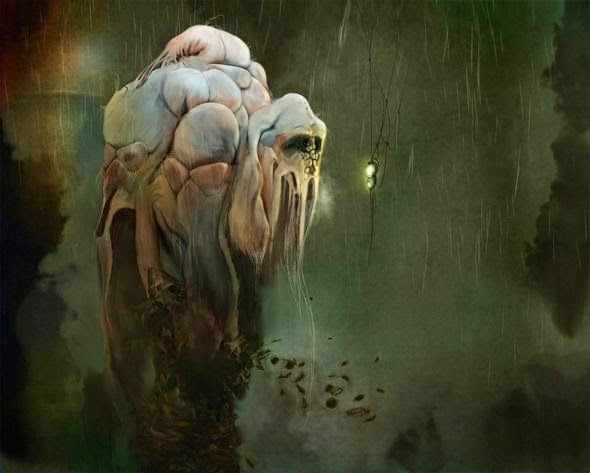 Alicia Martin Lopez ilustrações pinturas bizarras criaturas sombrias pesadelos
