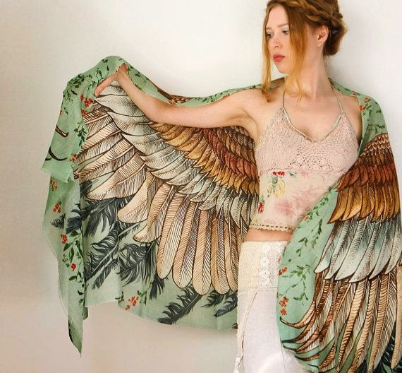 Fabulous Hand painted Wings Scraf