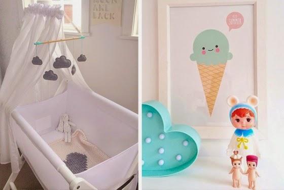 Boho deco chic como decorar en turquesa y gris una - Como decorar una habitacion de bebe ...