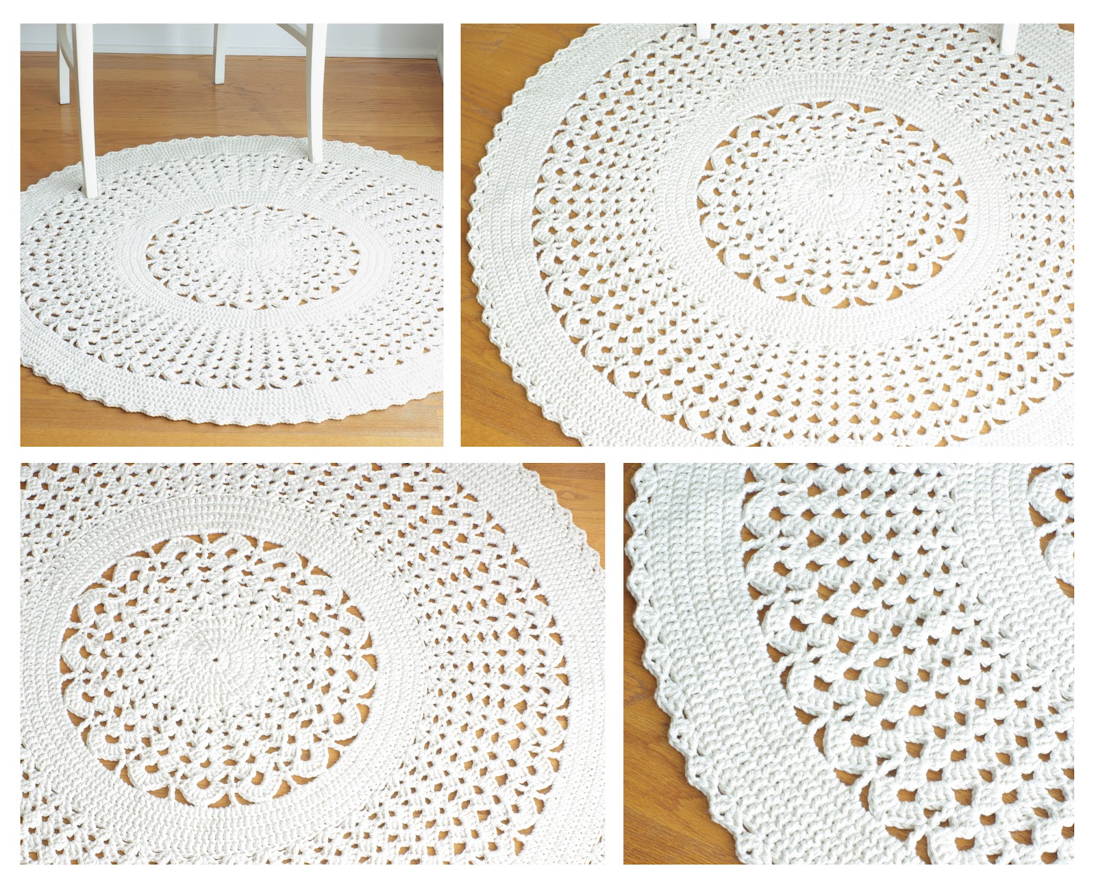 Handy Crafter...: New Crochet Doily Rug IVY now available at Henna\'s ...