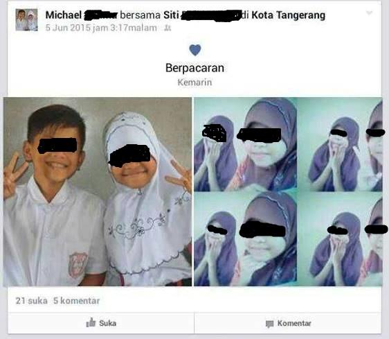 Foto Anak SD Pacaran di Facebook
