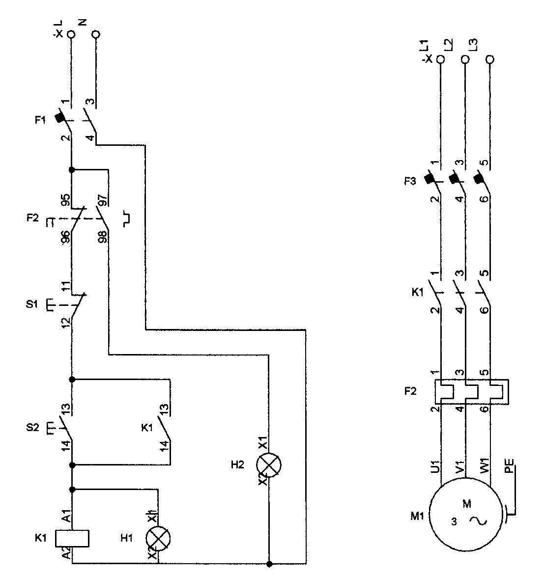 automatismos industriales m1i  protecci u00f3n con rel u00e9 t u00e9rmico