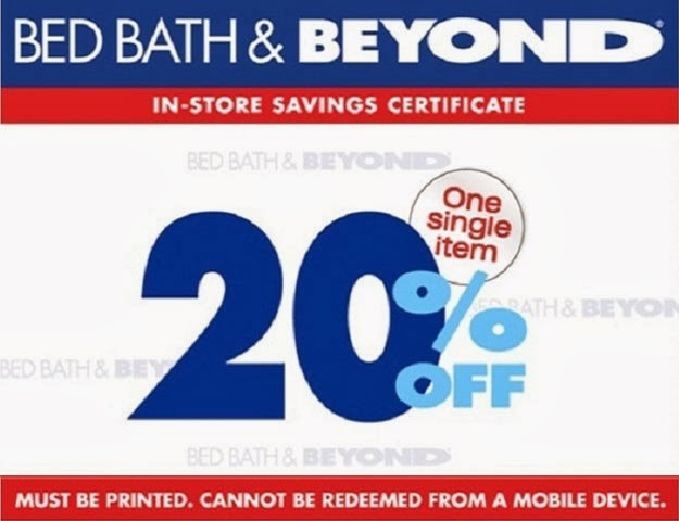 Bed Bath and Beyond printable coupons 2014
