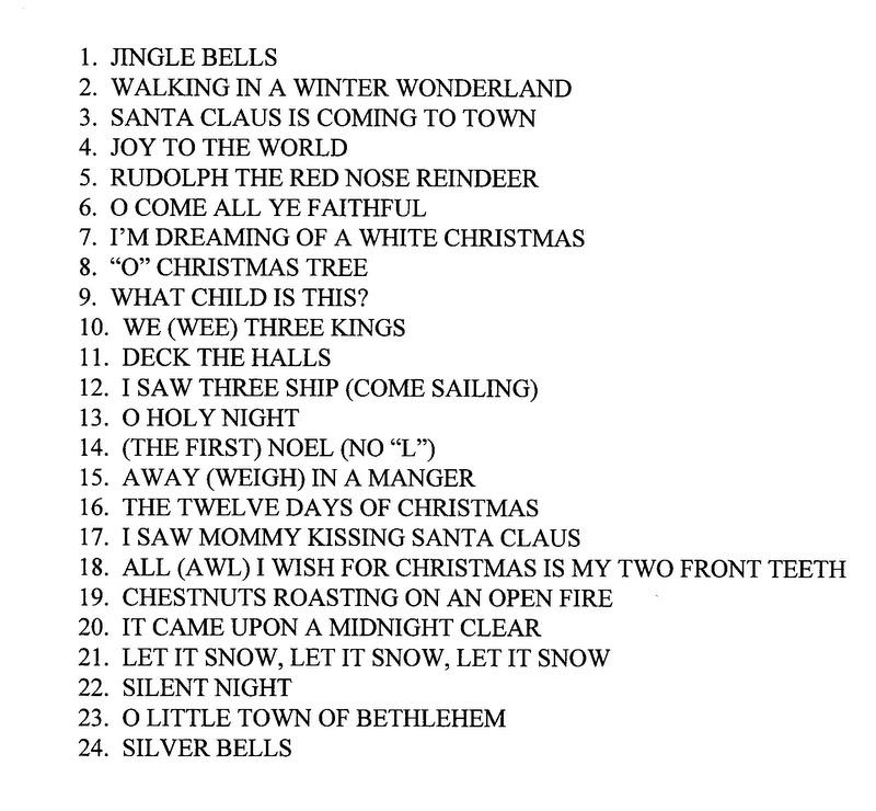 christmas song sheets click for details printable christmas song ...
