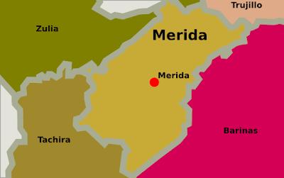 Mapa de Merida Venezuela