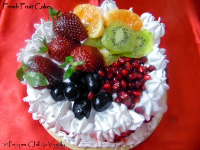 Fresh Fruit Cake RecipeBirthday Cake Idea Pepper Chilli and Vanilla