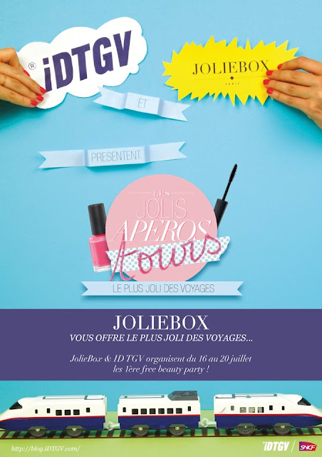 JolieBox et IDTGV organisent les 1ère free beauty party