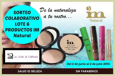 ¡SORTEO COLABORATIVO CON IM Natural! Lote 6 productos de cosmética natural.