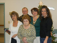 Granny, Mom, Dad, Amy & me at Christmas