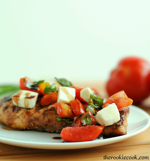 Grilled Caprese Chicken ~ The Rookie Cook