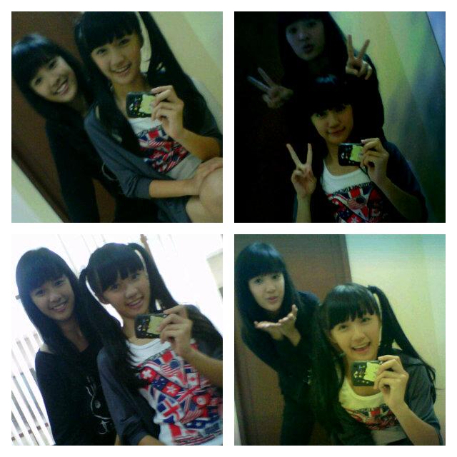 Foto narsis beby JKT48 dan Cindy JKT48