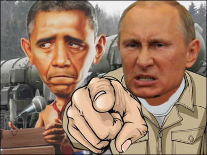 Vladimir Putin to Obama: I Vill Nuke You!