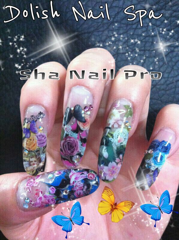 Welcome To Dolish Nail Spa Sha Nail Pro With Angel Butterfly