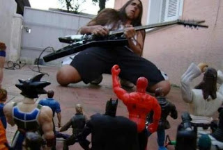 metal rocker funny toy party image photo win fail epic guitarist guitar heavy long hair