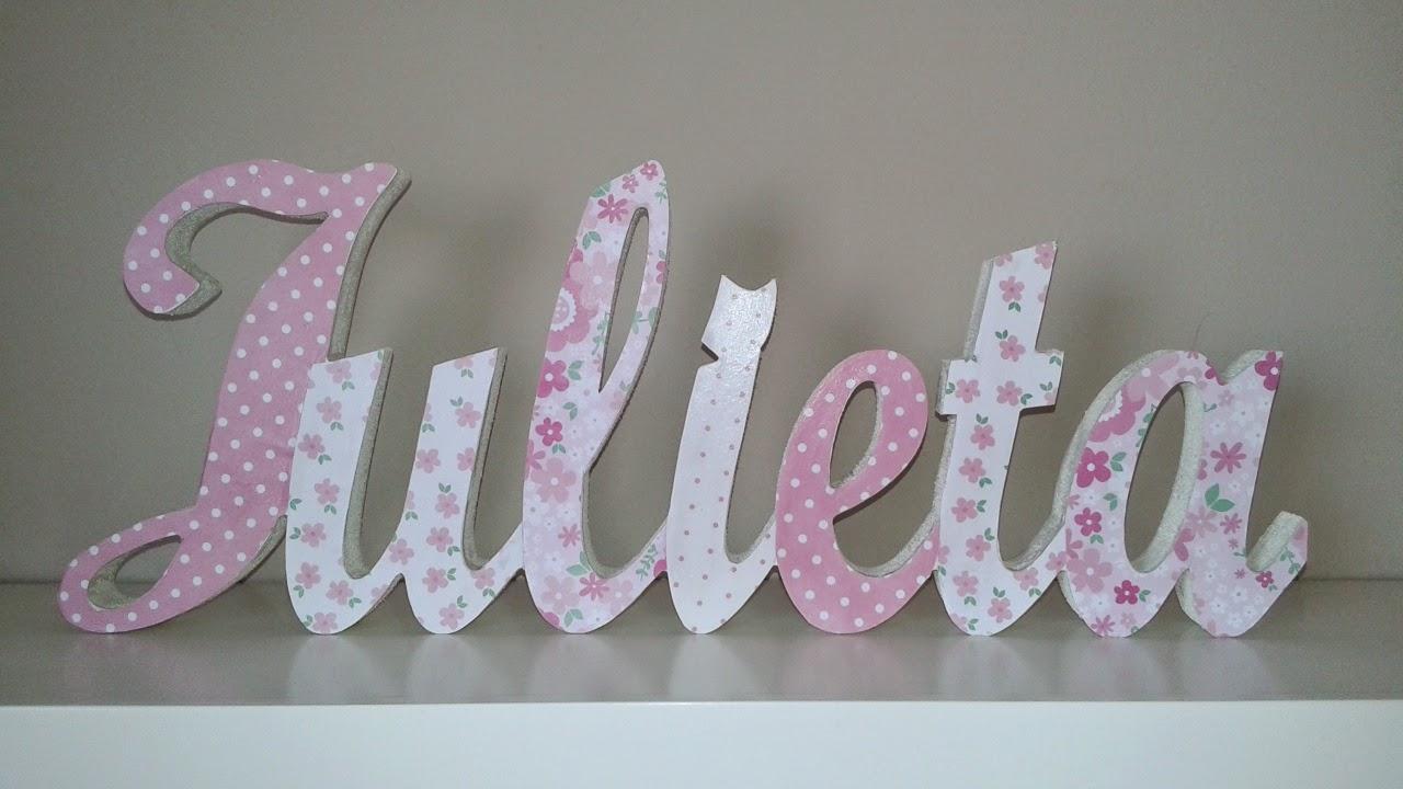 El taller de cayetana letras infantiles decoradas con - Letras de nombres para decorar ...