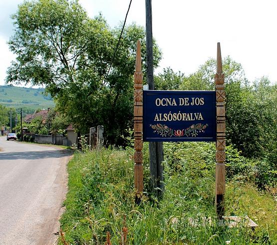A falu bejárata