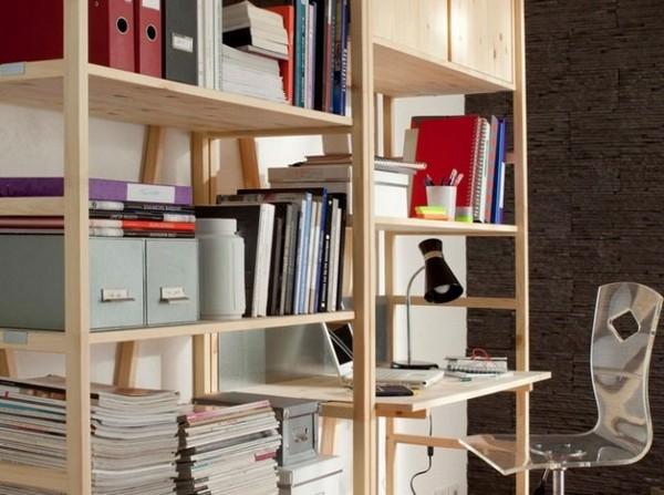 Lakberendez s sz vvel l lekkel kis lak sok sorozat tletek egyszob s lak s - Comment faire une etagere en bois ...
