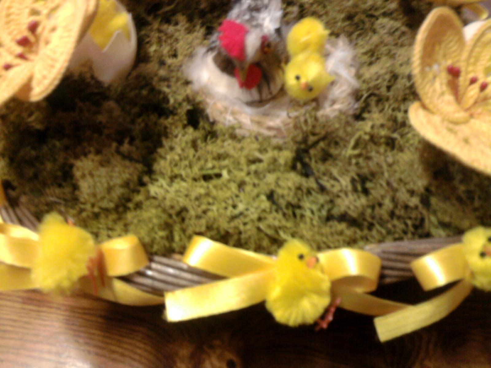 Uncinetto e cucina centro tavola per pasqua - Tavola per cucina ...