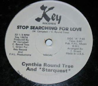 Cynthia Round Tree And Starquest - Stop Searching For Love (Vinyl, 12'' 1985)(Key Records)