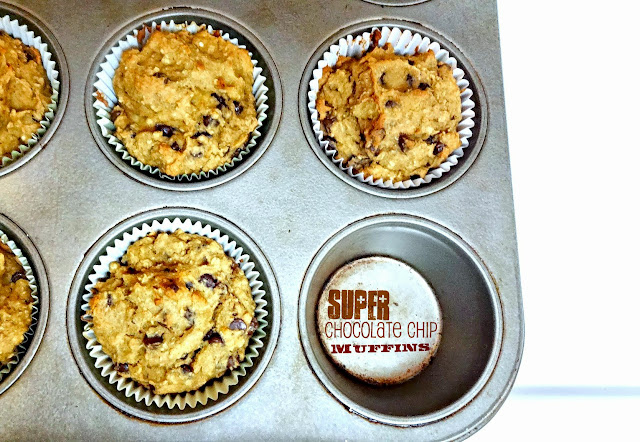 CHOCOLATE CHIP SUPER MUFFINS! Better for you and just better!