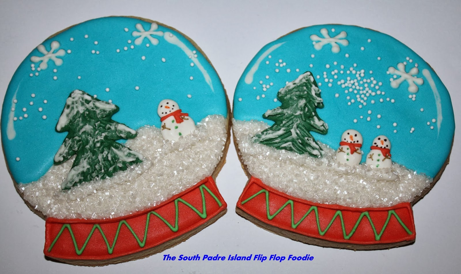 The South Padre Island Flip Flop Foodie Decorated Christmas Cookies