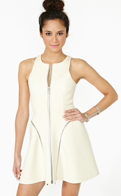 NastyGal Light Curve Dress (Moon) Scuba