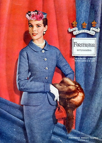 Forstmann ~ 1954 #vintage #fashion #1950s #style #blue