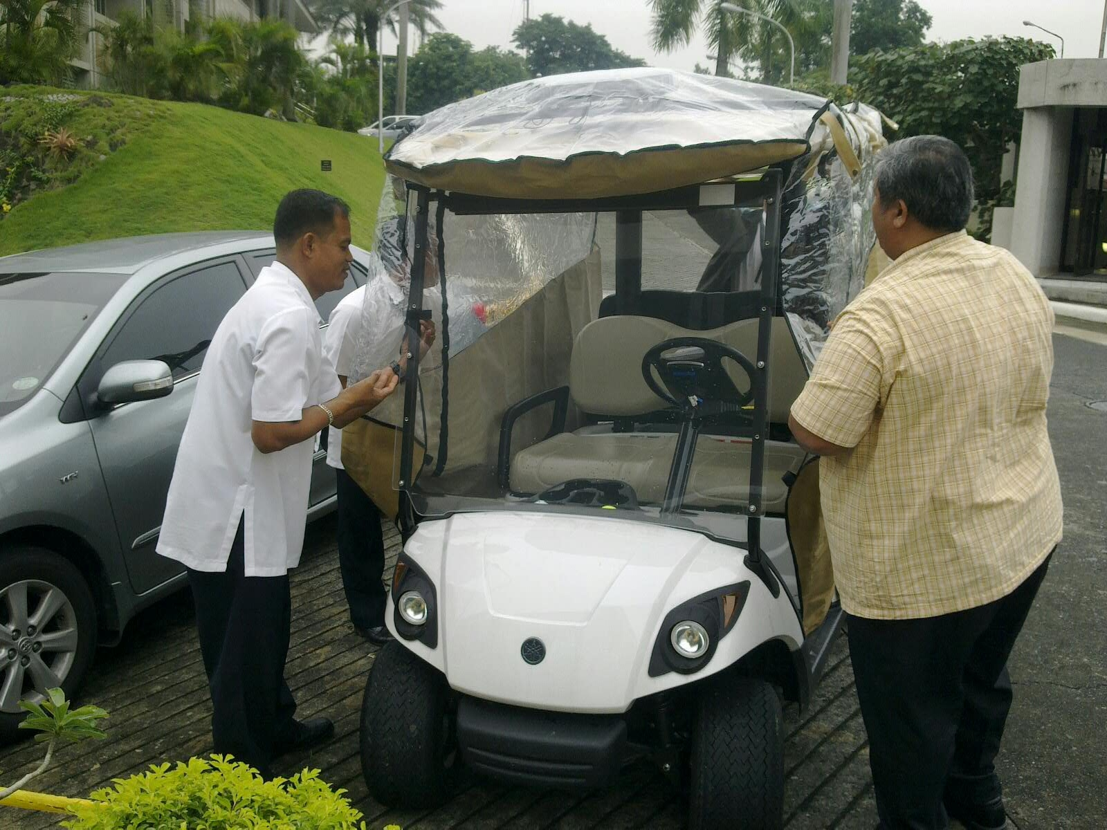 Our Mission to the Philippines: July 11th Arrival of the Golf Cart on rain covers for tents, rain covers for shopping carts, rain covers for shoes, rain covers for forklifts, rain covers for equipment, rain covers for helmets, rain covers for generators, rain covers for gloves, rain covers for golf clubs, rain covers for doors, rain covers for electric scooters, rain covers for wheelchairs, rain covers for cars,