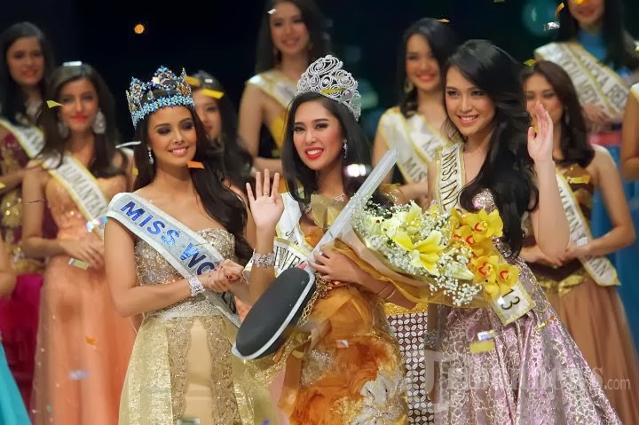 Miss Indonesia 2014 winner Maria Asteria Sastrayu Rahajeng