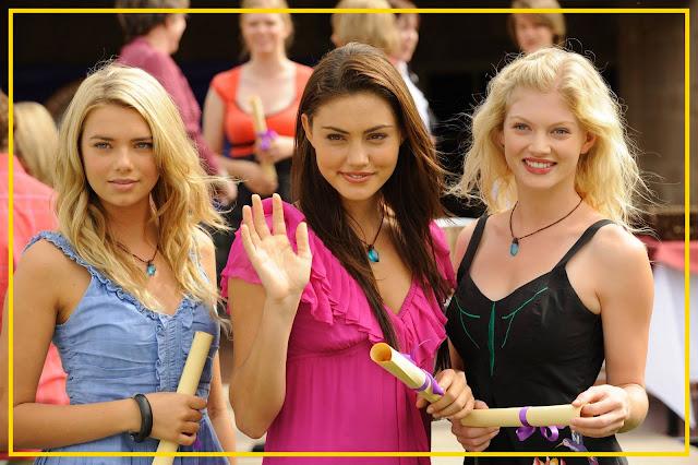 Protagonistas da Terceira Temporada: Indiana (Bela), Phoebe (Cleo) e Cariba (Drica)