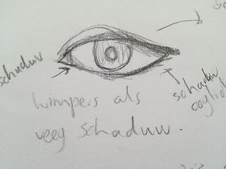 tekening oog