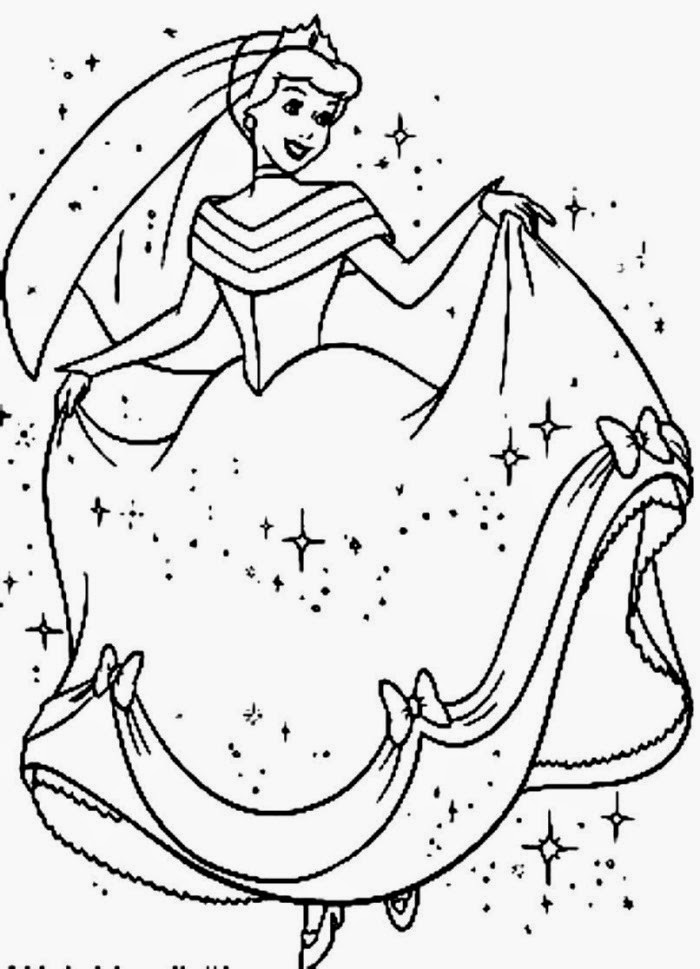Coloring Pages Cinderella Free Printable