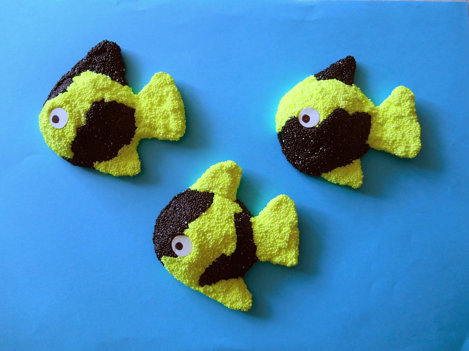 poissons en pâte microbilles