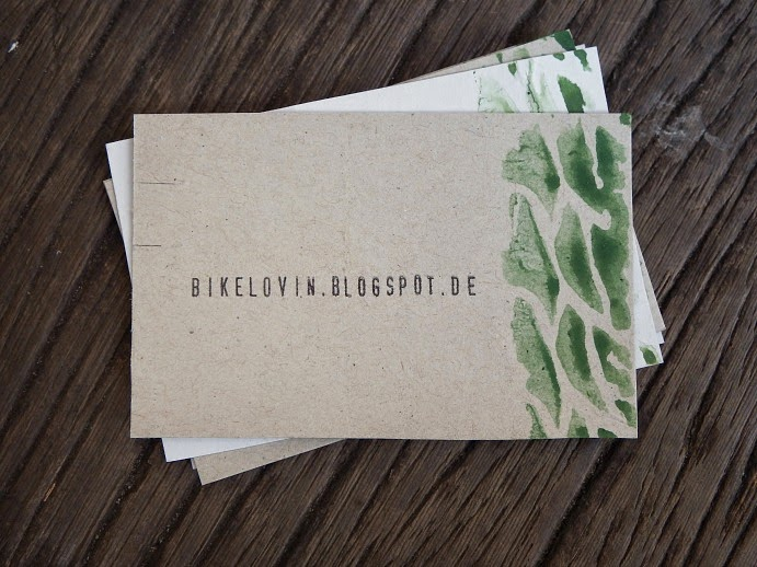 upcycling DIY Visitenkarte