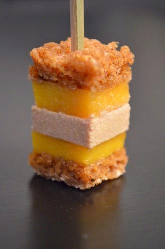Recette bouch es de foie gras mangue et pain d 39 pices - Couper morceau mp3 en ligne ...