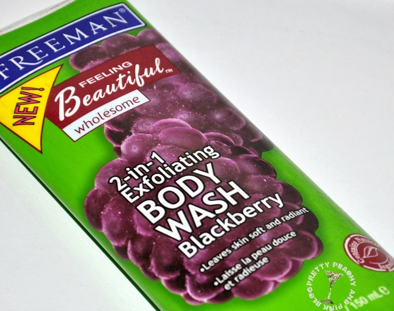 FREEMAN FEELING BEAUTIFUL WHOLESOME 2-IN-1 EXFOLIATING BODY WASH BLACKBERRY
