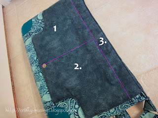 Lilium Laptop Bag-- my pieced flap lining