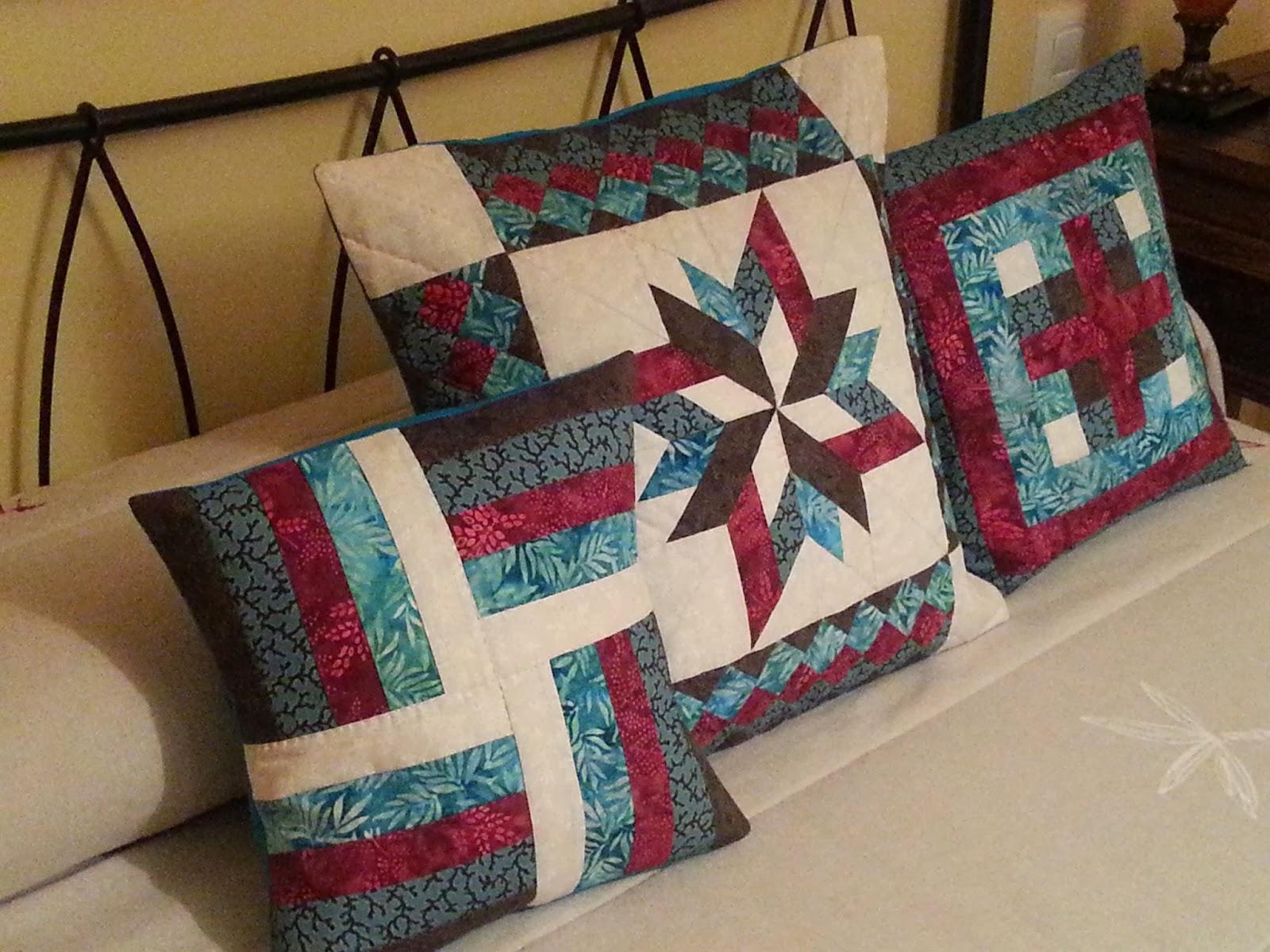 Cuesti n de coser cojines de patchwork - Cojines de patchwork ...