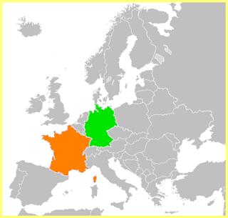 Mapa Francia y Alemania